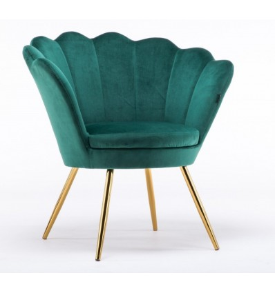 Hroove Salon Chair - Bottle Green Velour BFHR1414