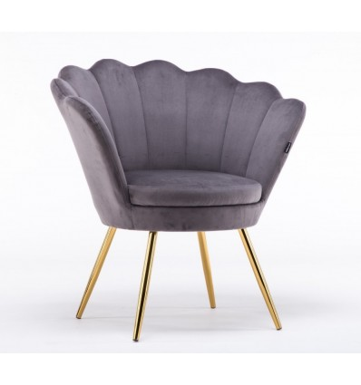 Hroove Salon Chair - Grey Velour BFHR1414