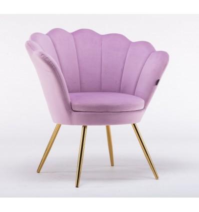 Hroove Salon Chair - Pink Velour BFHR1414