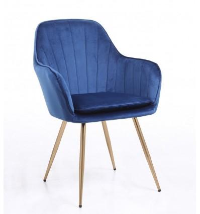 Hroove Salon Chair - Blue Velour BFHR2022