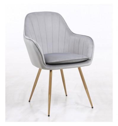 Hroove Salon Chair - Grey Silver Velour BFHR2022