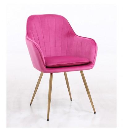 Hroove Salon Chair - Pink Velour BFHR2022