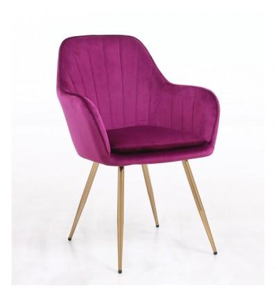 Hroove Salon Chair - Fuchsia Velour BFHR2022