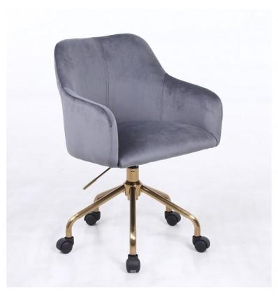 Hroove Salon Chair On Wheels - Green Velour BFHR698