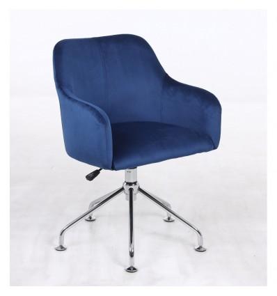 Hroove Salon Chair - Blue Velour BFHR698S