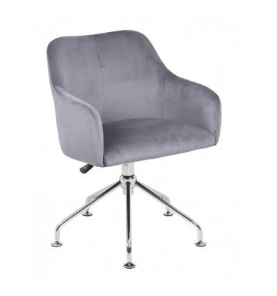Hroove Salon Chair - Silver Velour BFHR698S