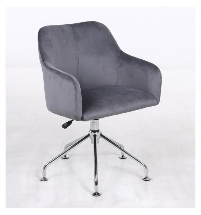 Hroove Salon Chair - Grey Velour BFHR698S