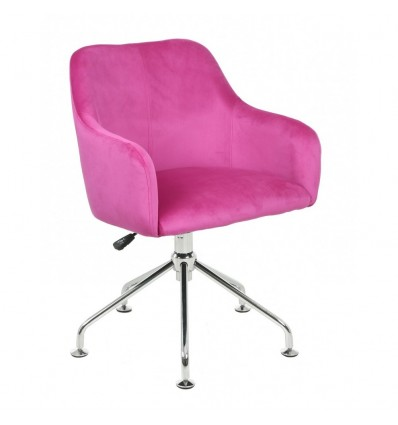 Hroove Salon Chair - Pink Velour BFHR698S