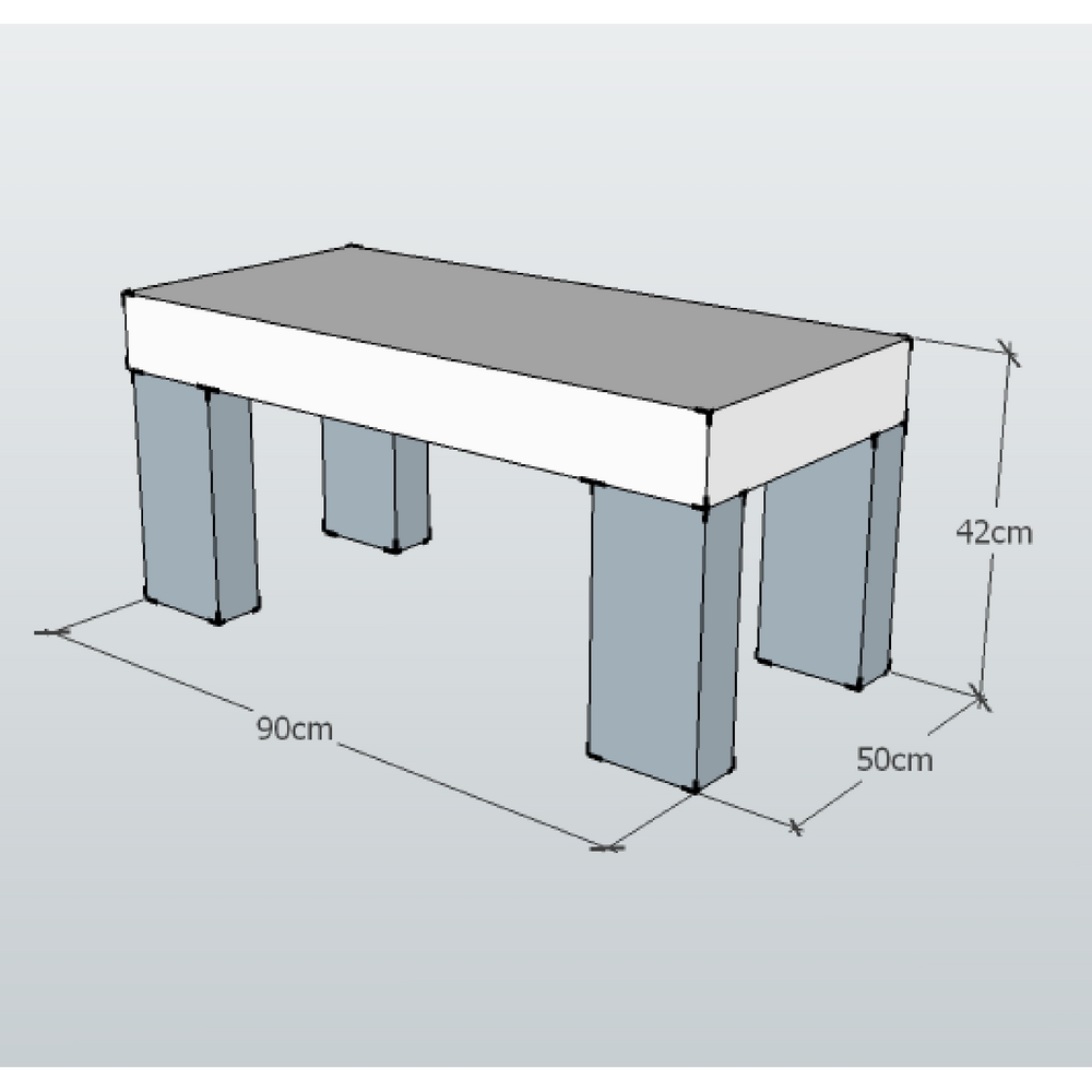 reception bench size guide