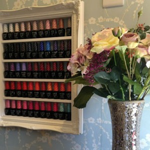 Rustic original baroque nail polish display - why you should have them in your salon or boutique ???